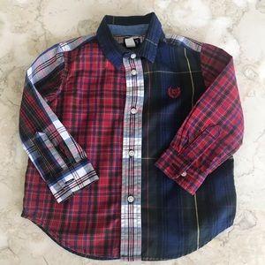 Chaps Ralph Lauren Plaid Button Down Dress Shirt